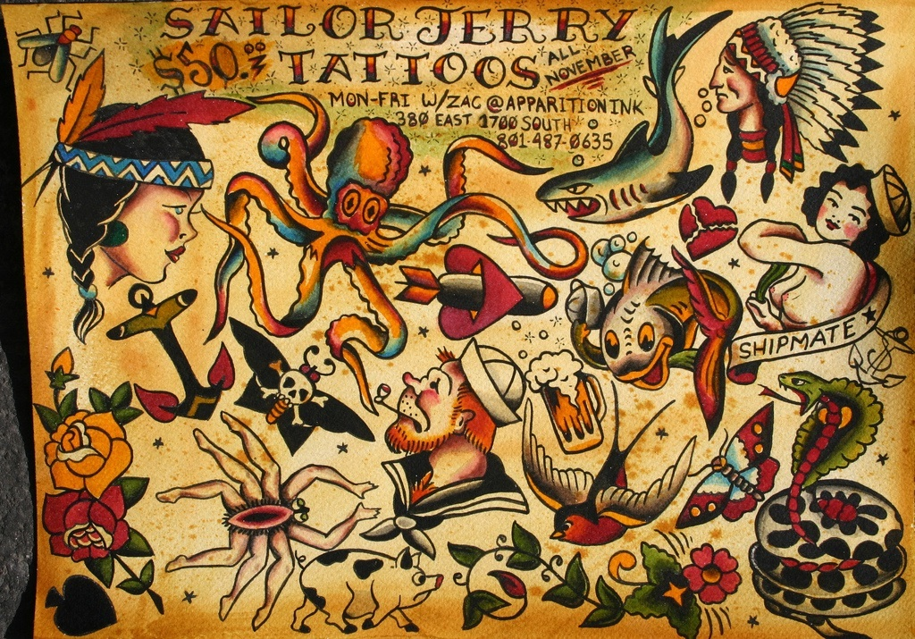 Norman sailor jerry collins rona green for Sailor jerry tattoos