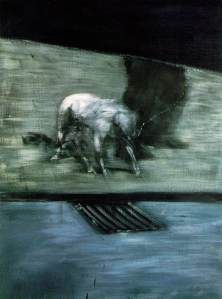 Man with dog by Francis Bacon
