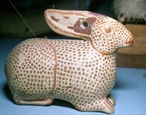 Greek Corinthian hare vase