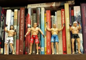 Books and UFC figurines