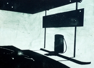 Alexi Keywan, You Are Here, etching