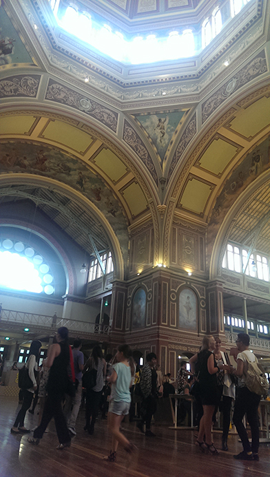 Interior of the Royal Exhibition Building