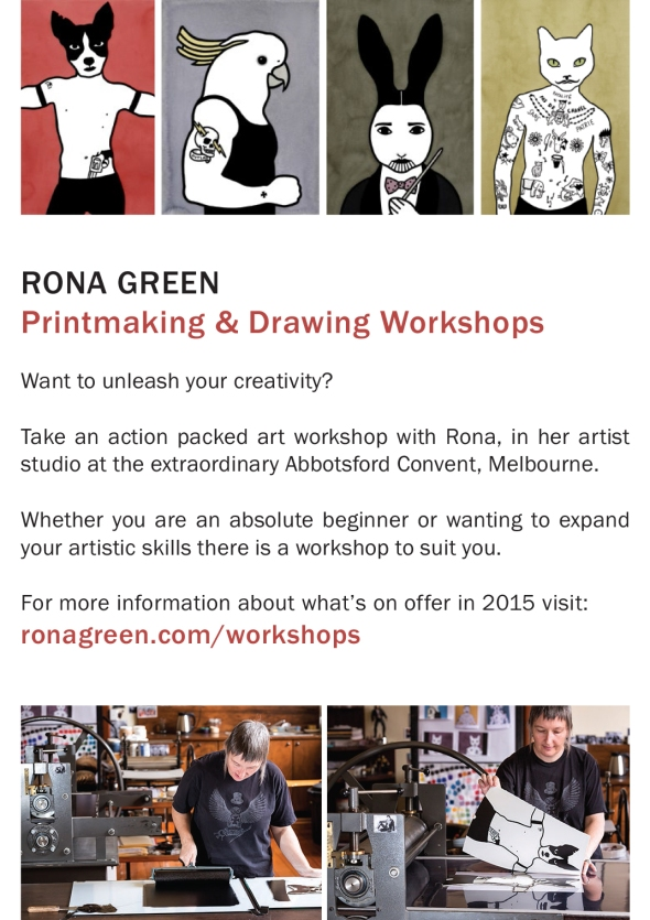 Rona Green_workshops flyer