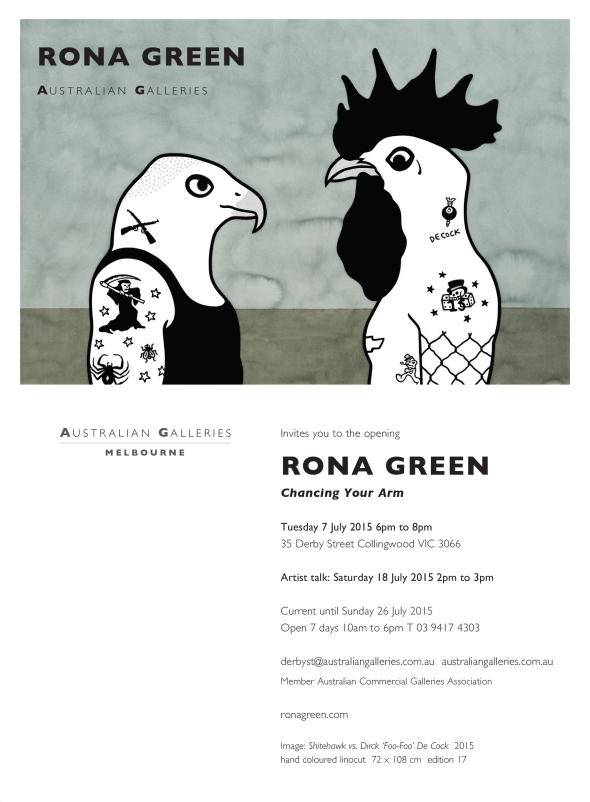 Rona Green_Chancing Your Arm_exhibition invitation