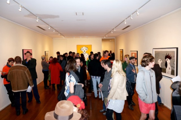 The opening night of the Chancing Your Arm exhibition at Australian Galleries Melbourne