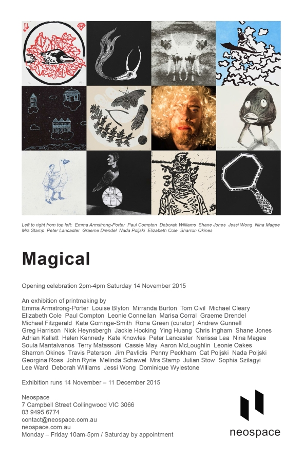 Magical exhibition invitation