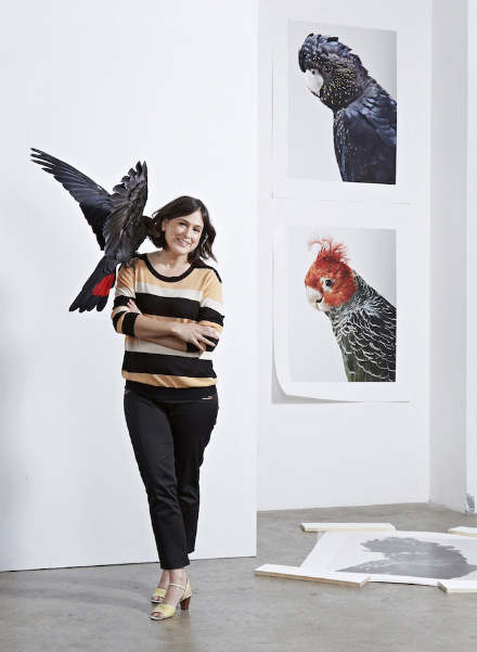 [1210] portraits of photog leila jeffreys and her art.